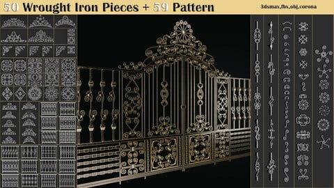 50 Wrought Iron Pieces + 59 Pattern