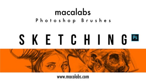 MACALABS_Sketching. Photoshop Brushpack