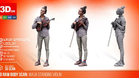 Cleaned 3D Body scan of Waja Standing Violin