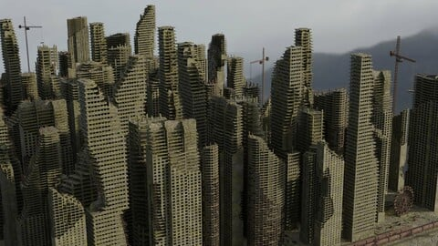 Post Apocalyptic Ruined City Pack
