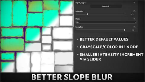 Better Slope Blur - Substance Designer Node