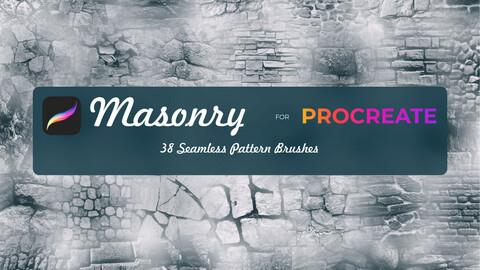 MasonryProcreate Brushes, Stone Procreate Brush Set, Brick Procreate, Procreate Brushes, Texture of stone, brick, paving stones Procreate