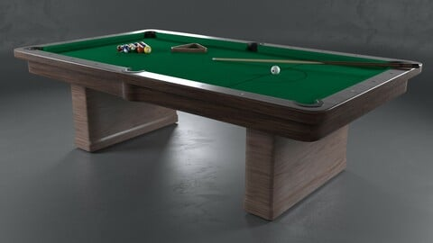 Billiard Table Pool table PBR texture 3D model