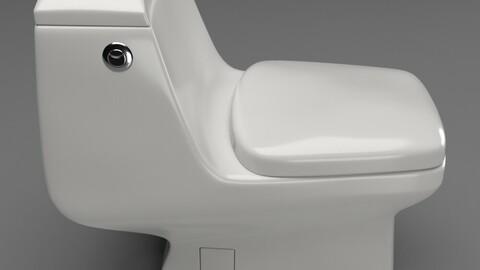 Toilet Seat Water Closet WC Palermo dual toilet 3D model