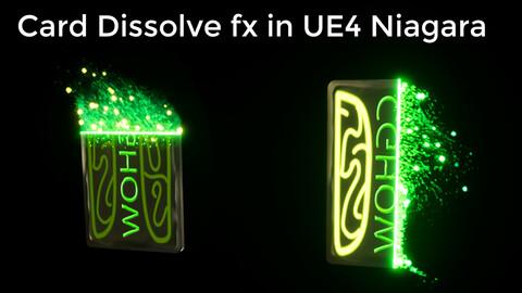 Card Dissolve FX in UE4.26 Niagara