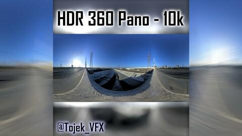 HDR 360 Panorama 1st Street Viaduct DTLA 17 bridge top