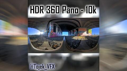 HDR 360 Panorama 1st Street Viaduct DTLA 33 under bridge