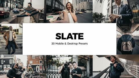 20 Slate LUTs and Lightroom Presets