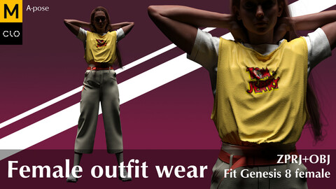 Female outfit wear