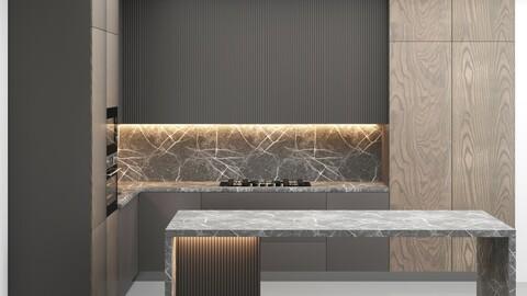 Kitchen 02 3d Model