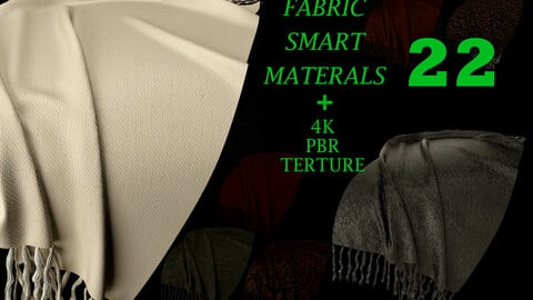 22 High Quality fabric Smart Materials Bundle + 4K PBR Texture_VOL.3