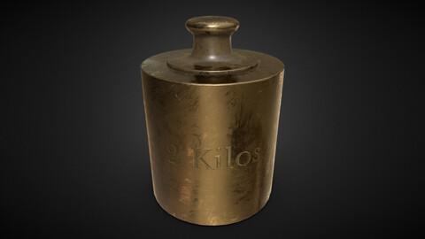 Old Bronze 2 Kilos Weight 4K PBR