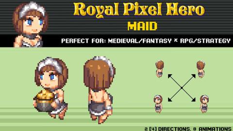 Pixel Art Chibi: Maid / Royal Pixel / Isometric