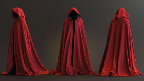 Hooded Half-Circle Cloak - Marvelous Designer/CLO3D