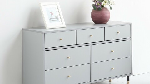 Mystic 1200 7-layer wide chest of drawers 2colors