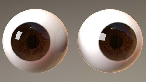 Stylised 3d eyes