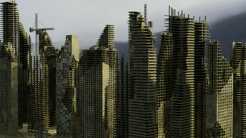 Ruined City Destroyed Cityscape Pack