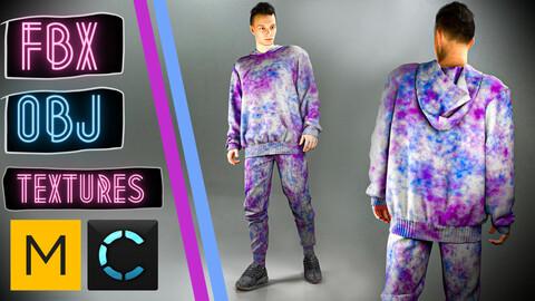 Marvelous Designer + Clo3d + OBJ + FBX + TEXTURES : Hoodie & pants