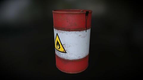 Explosive Red Oil Barrel - 4K PBR