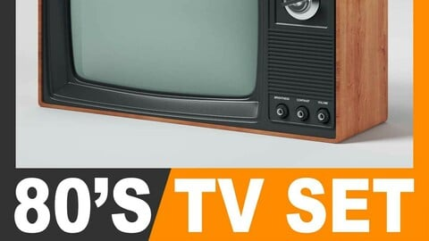 Retro 80's Television Set
