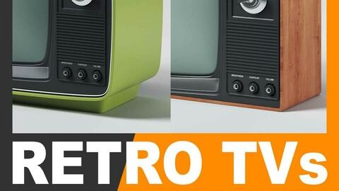 Retro Television Sets Pack