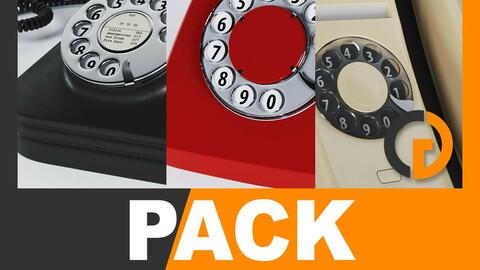 Retro Telephones Pack