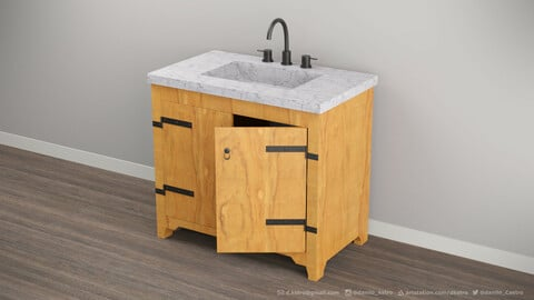 Bathroom Cabinet | 3D model
