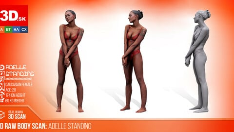 FREE Cleaned 3D Body scan of Adelle Standing
