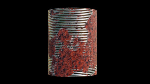 Rusted tin cans shader