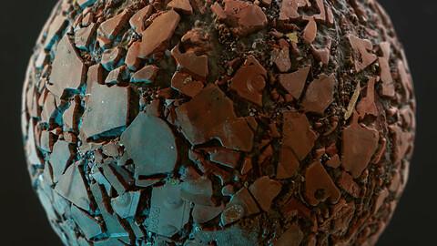 PBR - DEBRIS, ROOF TILE, SOIL, RUBBLE - 4K MATERIAL