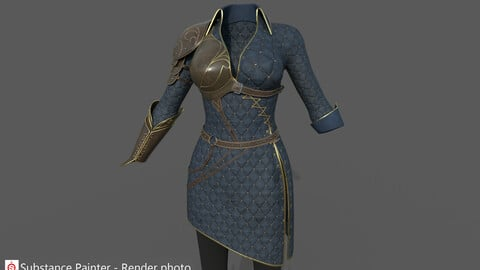 Ancient Woman warrior armor costume