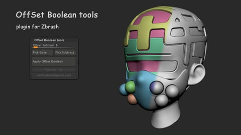 Offset Boolean tools plugin for Zbrush