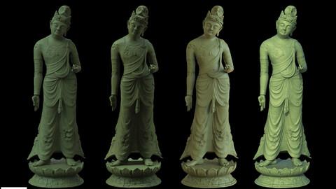 damaged  Buddha statue
