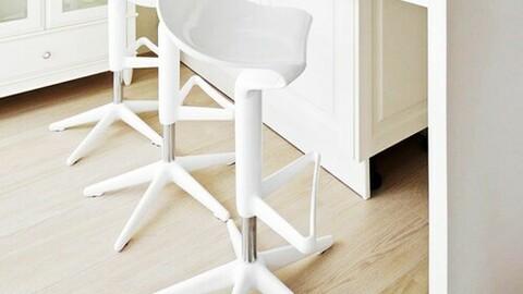 spoon bar stool island table chair 4colors