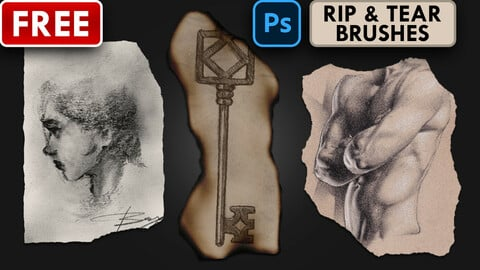 RIP & TEAR - (9) Photoshop Brushes (.abr)