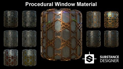 Procedural Window Material / Substance Designer %100