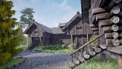Medieval North Settlement vol. 2 for UnrealEngine, Unity 3D, FBX