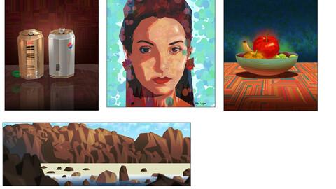 Clip Studio graphic painting brushes.