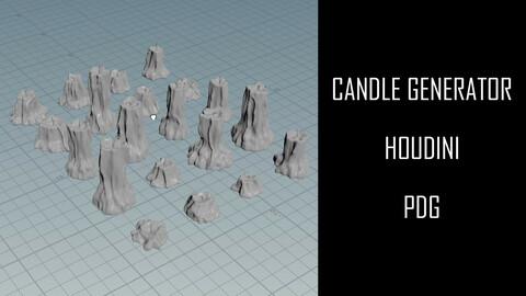 Candle Generator | Houdini | PDG