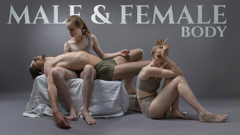 Male and Female Body Photo Reference Pack For Artists 476 JPEGs