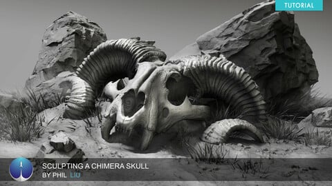 Sculpting a Chimera Skull | Phil Liu