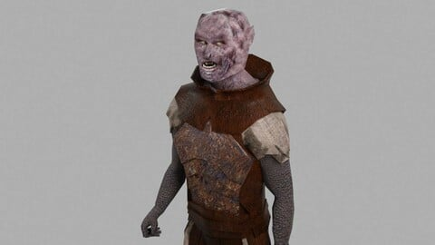 Orc Animated compatible with Mixamo - Low-poly 3D model