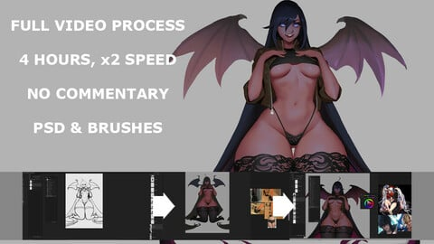 Succubus full video process 4 hours, x2 speed