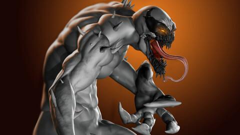Full  Anti-Venom ZBrush Sculpting Process Video