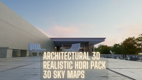 HDRI 8k sky maps pack for architecture 3d rendering (Time limited -50% off  35$ instead of 70$)