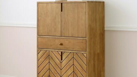 baum wood storage cabinet