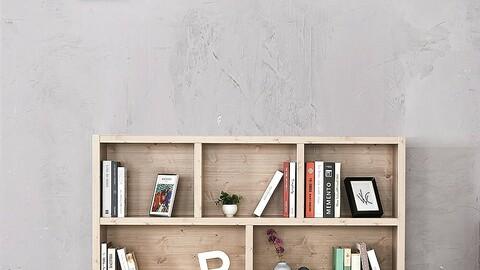 1500-2 tier wide bookshelf bookshelf shelf storage cabinet