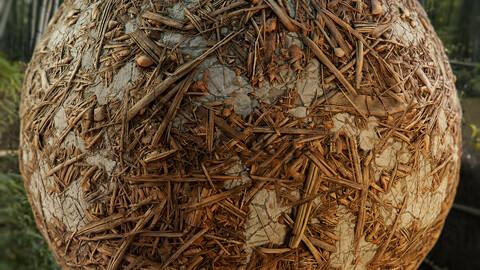 PBR - CONCRETE, BRANCHES, LEAVES, DIRT, TWIGS, SOIL - 4K MATERIAL