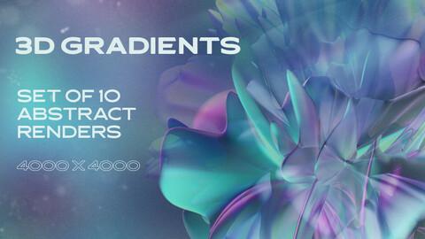 3D Gradients - 10 abstract renders
