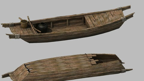 Traffic - Small wooden boat 03